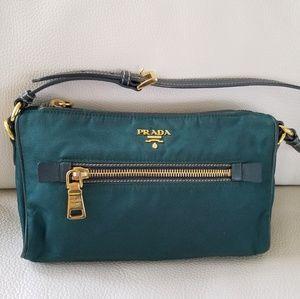 Authentic Prada Tessuto/ Saffiano Bag - Green